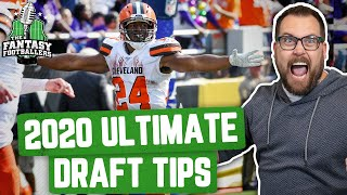 Fantasy Football 2020 - Ultimate Draft Tips + Eye-Popping Insights - Ep. #889