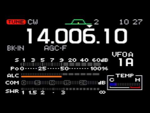 🔴 Tuning around 20m for ARRL Inter. DX Contest, CW 2018