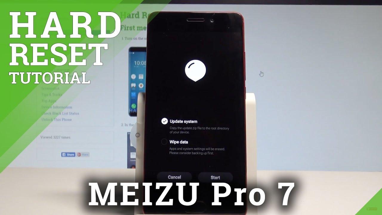 How to Hard Reset MEIZU Pro 7 - Factory Reset by Hardware Keys Method   HardReset Info