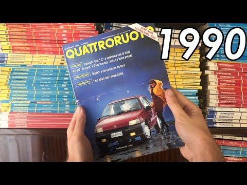 Quattroruote Novembre 1990: Renault Clio, Lancia Thema Ferrari [Quattroruote Nostalgia] (ENG SUBS)