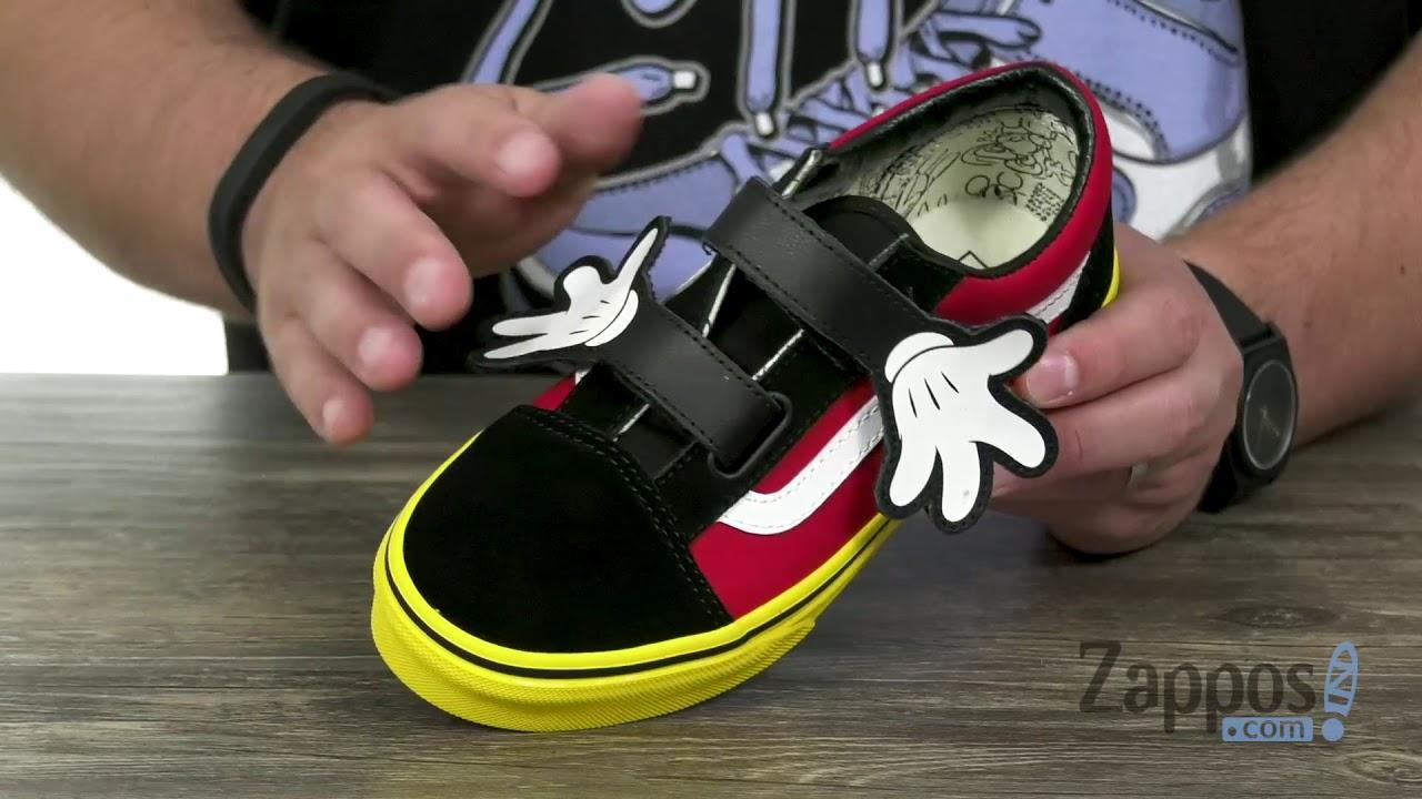 733b1d3ea742 Vans Kids Mickey s 90th Old Skool V (Little Kid Big Kid) SKU  9119331