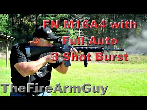 Full Auto FN M16A4 with 3 Shot Burst - TheFireArmGuy