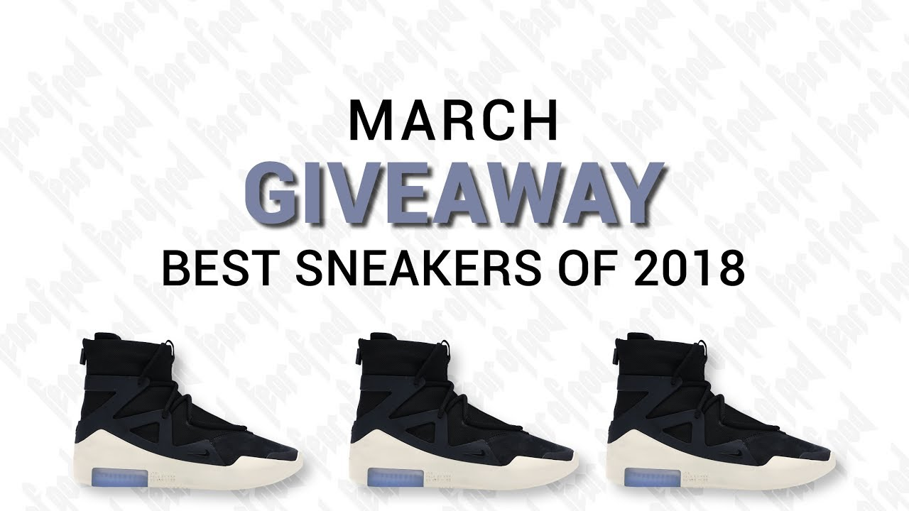 SNEAKER GIVEAWAY MARCH 2019