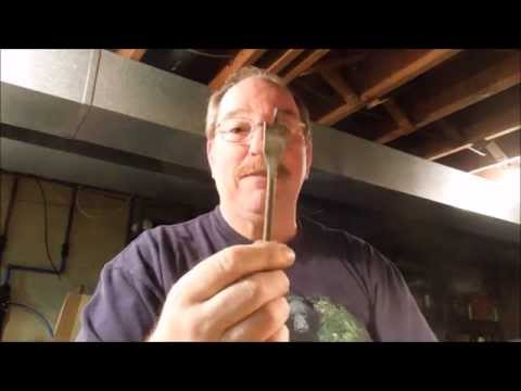 How To Sharpen A Spade Drill Bit - by Old Sneelock