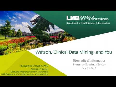Watson, Clinical Data Mining And You