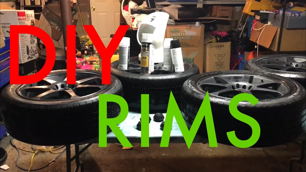 diy professionally painting rims black glossy or matte