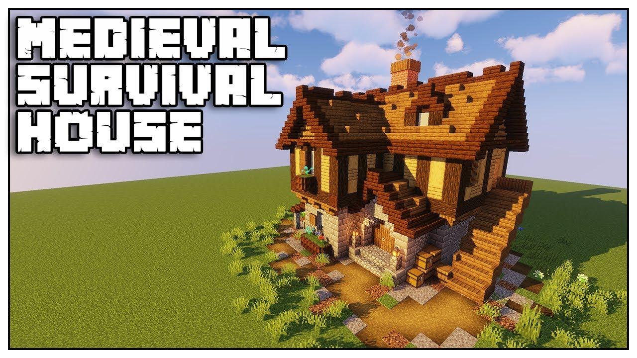 Minecraft Medieval Survival House Tutorial Minecraft 1 14 Youtube