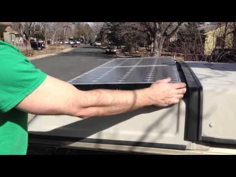 Solar Panels on a Westfalia Luggage Rack