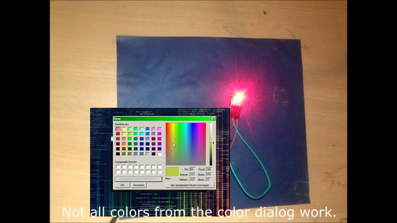 Arduino c rgb led strip control application