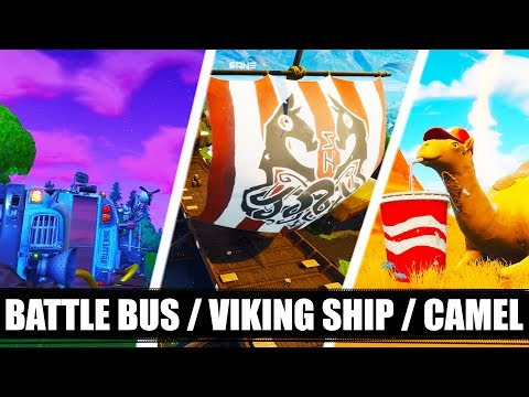'VISIT A VIKING SHIP, A CAMEL, AND A CRASHED BATTLE BUS' | Season 6 - Week 10 |Fortnite