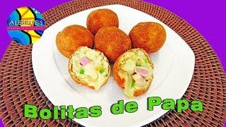 💛 BOLITAS DE PAPA RELLENAS DE QUESO, fácil de preparar