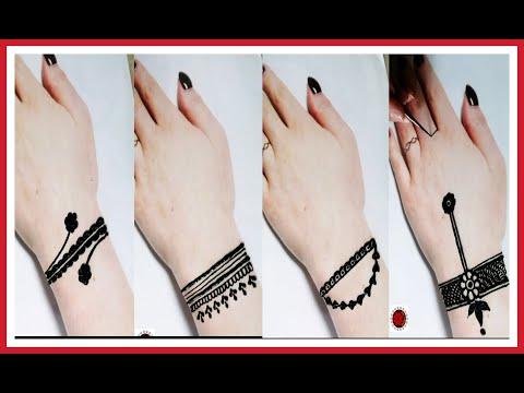 Bracelet mehndi design for eid ||unique and stylish henna design|| simple and easy mehndi design2020