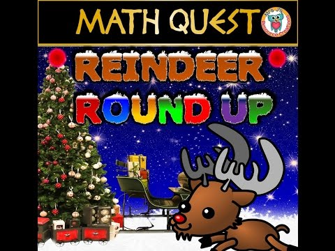 Christmas Math Quest - Reindeer Round Up