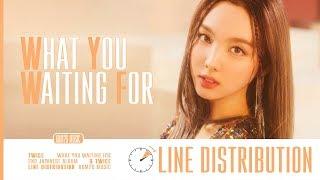 TWICE (トゥワイス) ~ What You Waiting For ~ Line Distribution