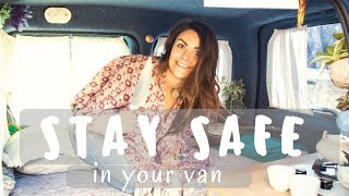 5 Tips to keep SAFE while van dwelling | Pamthevan