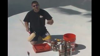How To Paint & Acid Wash A Swimming Pool - Part 3 -Painting