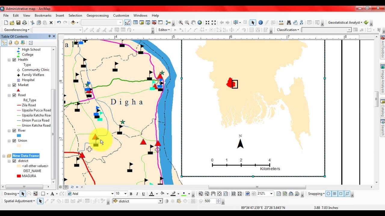 arc gis how to make map