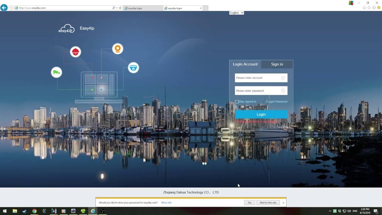 Remote Access/Easy4IP Access Setup P2P Plus Signup - Dahua Wiki