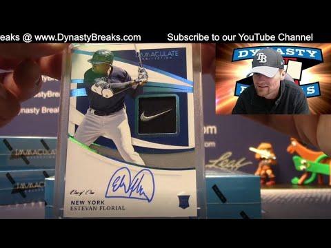 2021 Immaculate Baseball Card 8 Box Case Break #4   Sports Cards