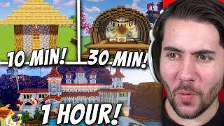 Flipping Minecraft Bases in 1 Hour, 30 Minutes and 10 Minutes