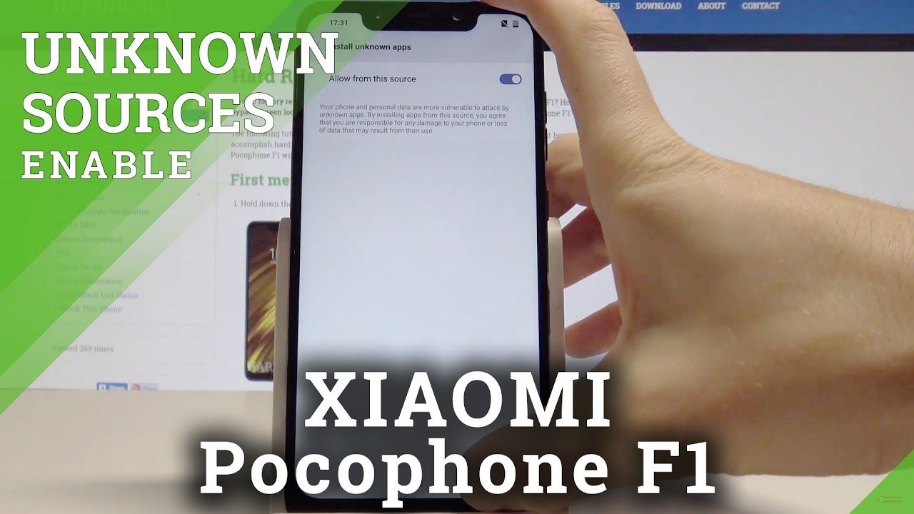 How to Enable Unknown Sources on XIAOMI Pocophone F1 – Allow App Installation