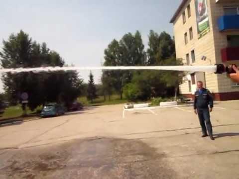 Испытание нового пожарного ствола ОРТ КУРС-8