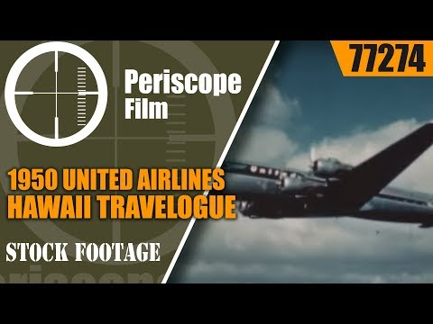 """1950 UNITED AIRLINES HAWAII TRAVELOGUE  """"HIGHWAY TO HAWAII""""  77274"""