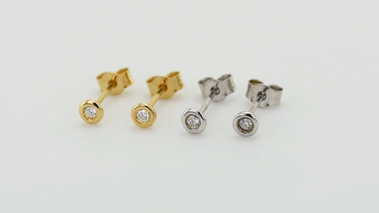 95d24d392 Bezel napichovacie náušnice s 0.06ct diamantmi Jecelyn | Eppi.sk