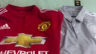 Elmontyouthsoccer.com 17-18 Manchester United GREY POLO Unboxing Review ($5 offer)