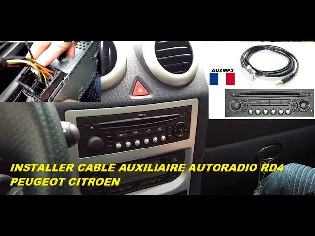 2 CLES DEMONTAGE autoradio Cable AUX PEUGEOT CITROEN AUTORADIO RD4