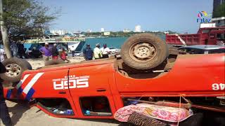Likoni: CCTV video shows how a vehicle overturned few metres from ferry