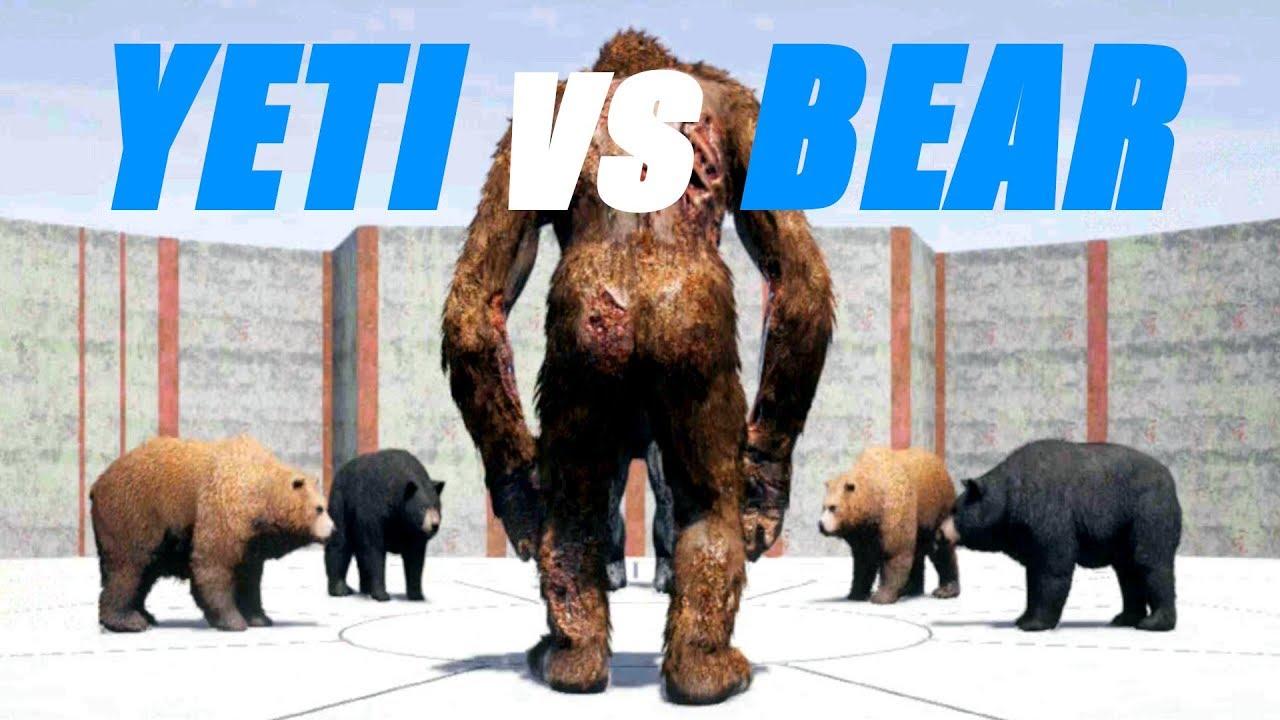 ANIMAL FIGHT: YETI Vs BEAR BATTLE (Map