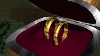 Футаж кольца  в  футляре