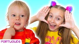 Eu te Achei - Peek a boo song   Canção infantil por Sunny Kids Songs em Português