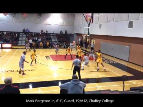 "Mark ""Borggy"" Borgeson Jr. '16-17 Chaffey College Hilites..."