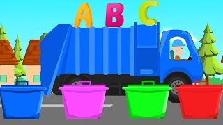 Alphabet Garbage Trucks - ABC Kids Alphabets with Truck Toys - Garbage Truck Videos For Kids
