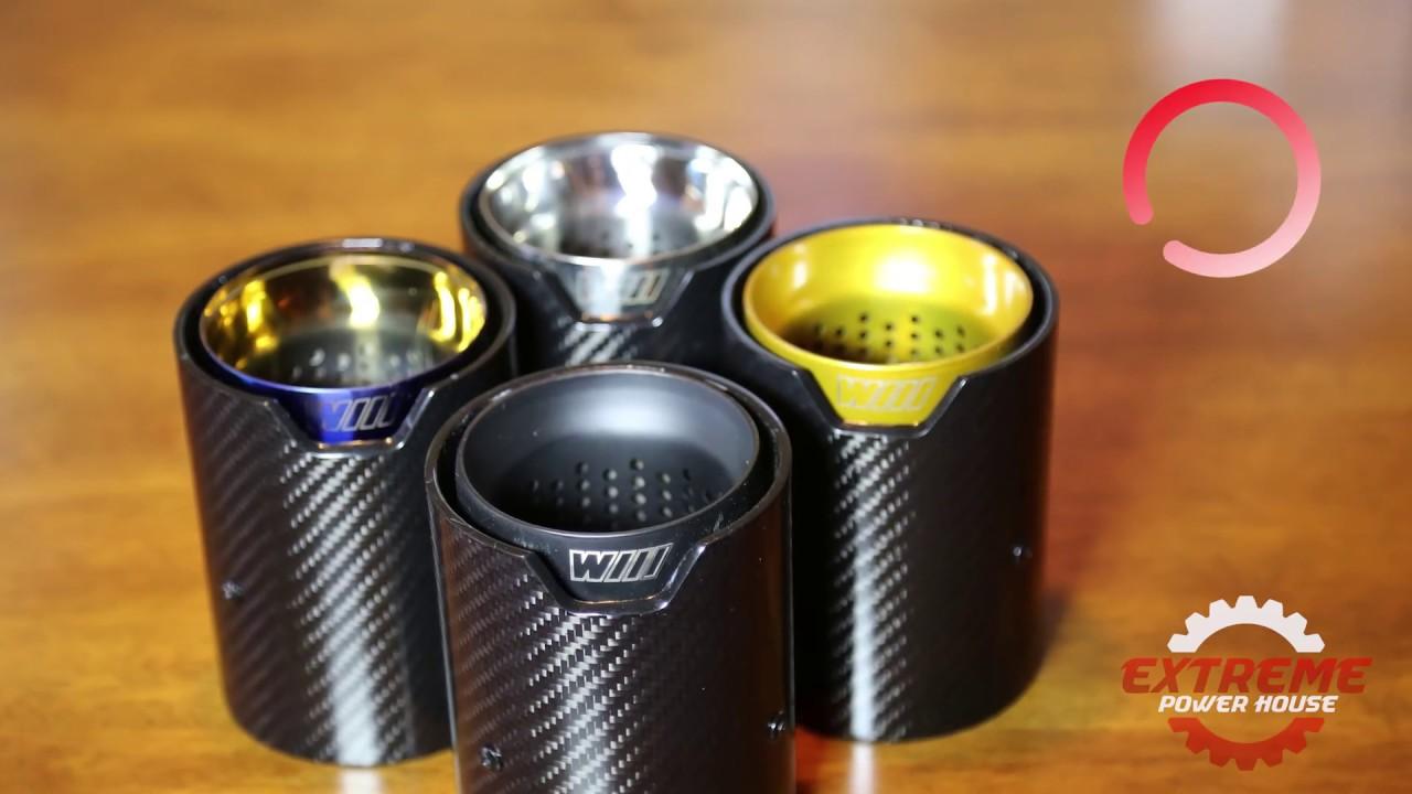xph carbon fiber tips for bmw m2 m3 m4 m performance style polished black blue gold