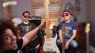 blindfold fender strat challenge - can we tell a 300 guitar from a 3000 one?!?