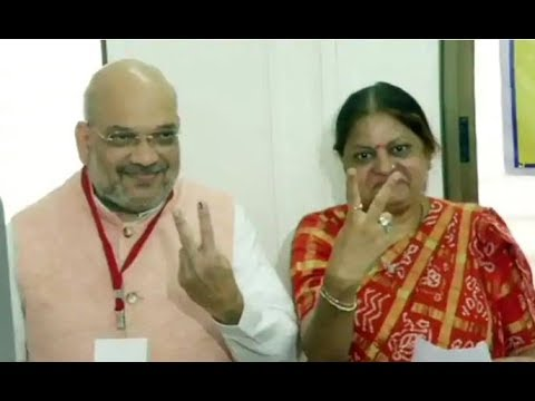 LS Polls 2019: BJP Chief Amit Shah casts his vote in Ahmedabad