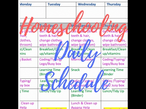 photograph relating to Homeschool Daily Schedule Printable identified as Homeschool Young children Each day Plan Printable Readily available