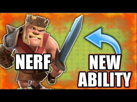 KING NERF & GET NEW ABILITY THE IRON FIST IN CLASH OF CLAN