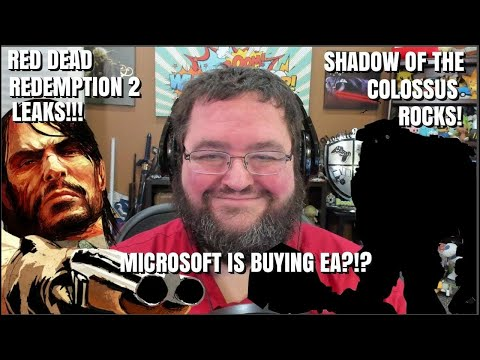 GAMING NEWS: RED DEAD REDEMPTION 2 LEAKS, MICROSOFT BUYING EA? SHADOW OF THE COLOSSUS REVIEWS!