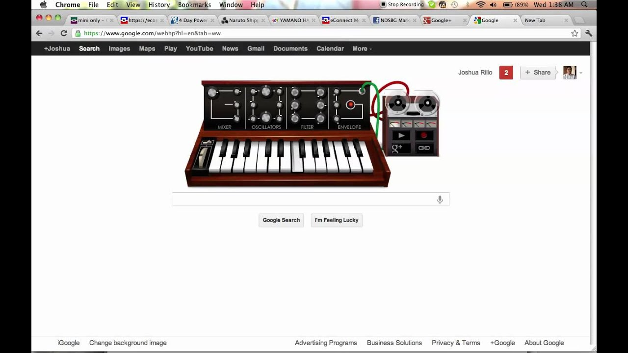 Robert Moog Google Doodle Tetris Theme Youtube