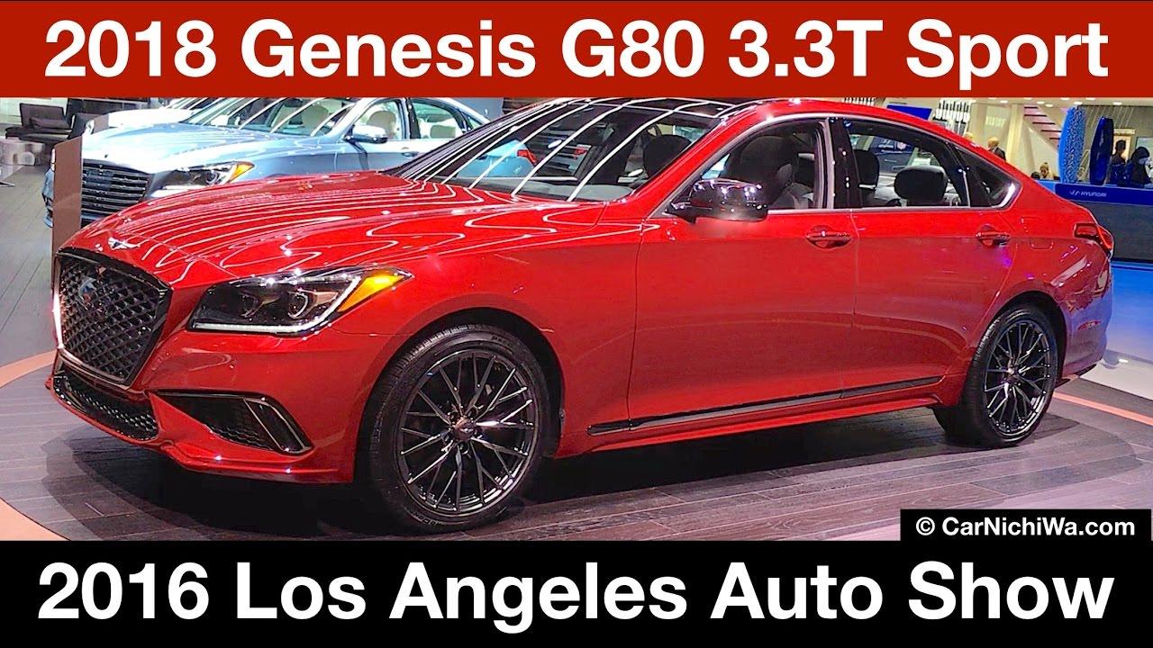 2018 genesis 3 3t. contemporary genesis 2018 genesis g80 33t sport  2016 los angeles auto show carnichiwacom with genesis 3 3t