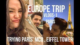 VLOGS1 Europe trip PARIS (review MCD Paris honeymoon)