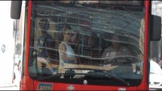 Napoli - Caldo e disagi sui mezzi pubblici (10.08.15)