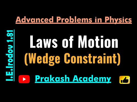 Law of Motion  8  Problem 1 81 for IIT by Guru Sir @Ranchi