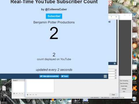 How To Make A LIVE Sub Counter With OBS