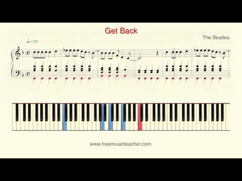 """How To Play Piano: The Beatles """"Get Back"""" Piano Tutorial by Ramin Yousefi"""