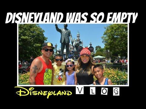 Disneyland Vlog - It's Empty At Disneyland
